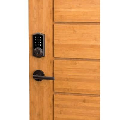 Z-Wave SmartCode 916 Touchscreen Satin Nickel Single Cylinder Electronic Deadbolt Featuring SmartKey Security