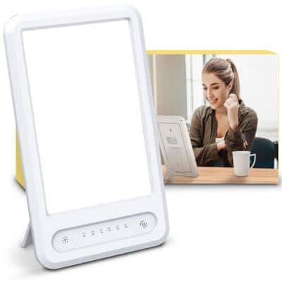 11 in. White UV-Free Mood Lifting LED Therapy Light