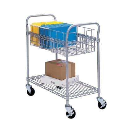 Gary Metal Wire Mail Cart 24 in. W