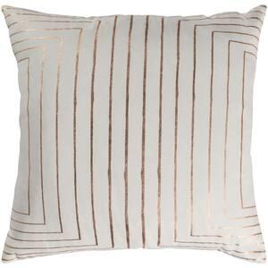 Shrewsbury Cream Geometric Polyester 18 in. x 18 in. Throw Pillow