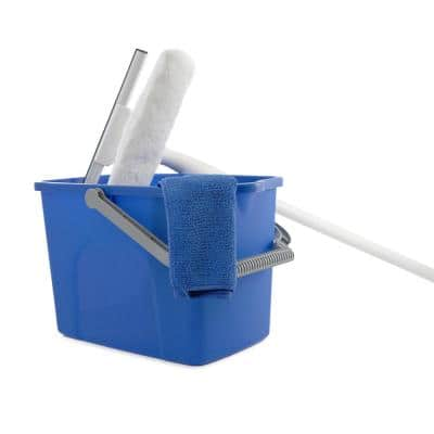 10 in. Window Washing Starter Kit with Pole and Bucket