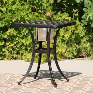 Ava Copper Aluminum Outdoor Accent Table