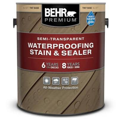 1 gal. Semi-Transparent Waterproofing Exterior Wood Stain and Sealer