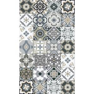 Decorative Grey 20 in. x 34 in. Laminated Kitchen Mat