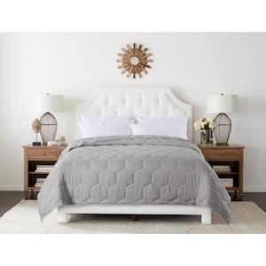 Honeycomb Stitch Glacier Grey Microfber King Blanket
