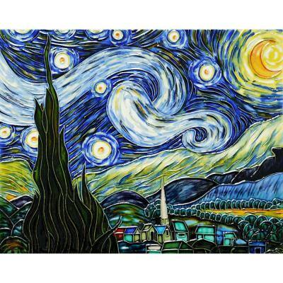 Van Gogh, Starry Night Trivet/Wall Accent Tile (felt back)