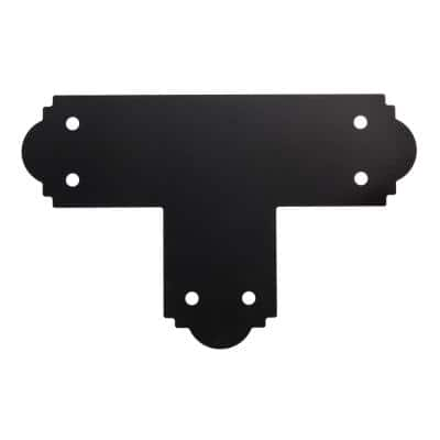 Outdoor Accents Mission Collection ZMAX, Black Powder-Coated T Strap for 6x6 Lumber
