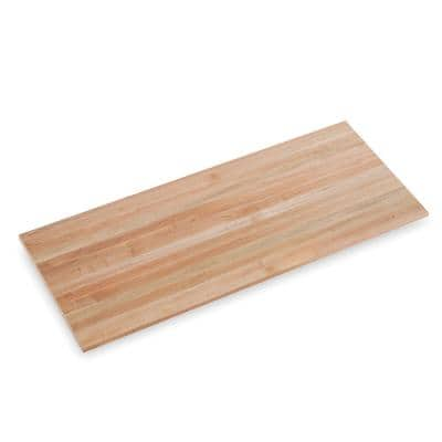 Finished Maple 5 ft. L x 25 in. D x 1.5 in. T Butcher Block Countertop with Square Edge