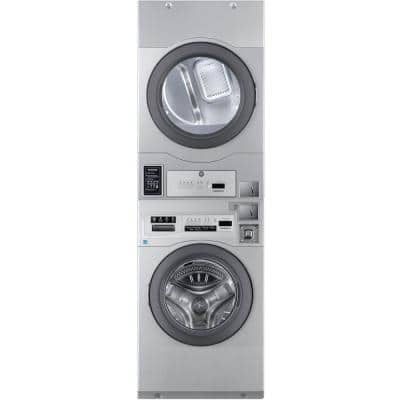 Commercial Laundry 27 in. Grey Laundry Center with 3.5 cu. ft. Washer and 7 cu. ft. Gas Dryer