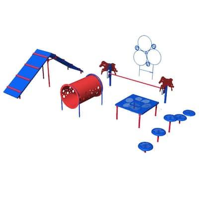 Playful Colors Dog Park Commercial Intermediate Course