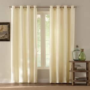 Cream Solid Grommet Room Darkening Curtain - 54 in. W x 108 in. L