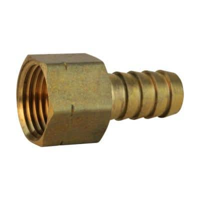 1/4 in. Barb x 1/4 in. FIP Brass Adapter Fitting