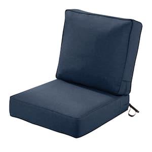 25 in. W x 25 in. D x 5 in. T (Seat) 25 in. W x 22 in. H x 4 in. T (Back) Outdoor Lounge Cushion Set in Heather Indigo