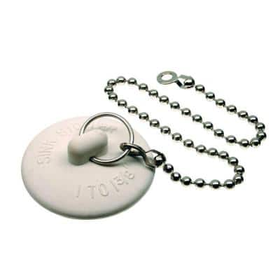 1 in. - 1-3/8 in. Universal Sink Stopper with Chain