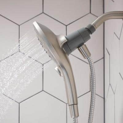Attract with Magnetix 6-Spray 5.5 in. Single Wall MountHandheld Adjustable Shower Head in Spot Resist Brushed Nickel