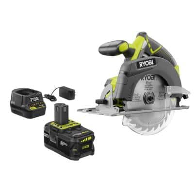 18V ONE+ Cordless 6-1/2 in. Circular Saw Kit with 4.0 Ah Lithium-Ion Battery and Charger
