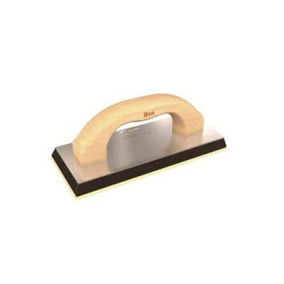 4 in. x 9 in. Grout Float with Wood Handle