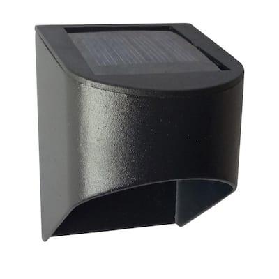 Solar Black Integrated LED Downcast Deck Rail Light (2-Pack)