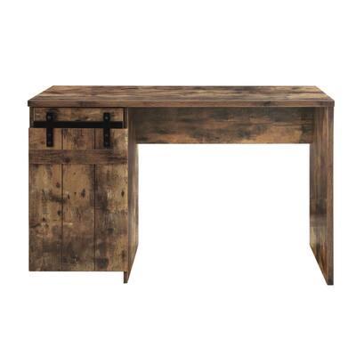 Bellarose 47 in. Rectangular Rustic Oak Finish Writing Desk