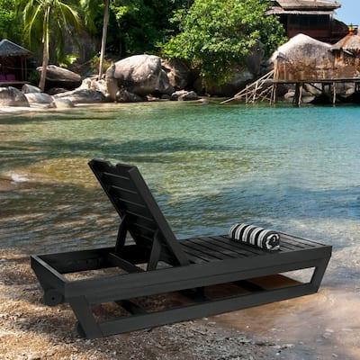 Pinehurst Black Plastic Outdoor Chaise Lounge