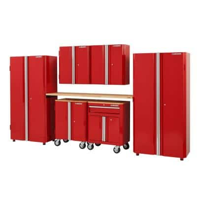 7-Piece Ready-to-Assemble Steel Garage Storage System in Red (133 in. W x 98 in. H x 24 in. D )