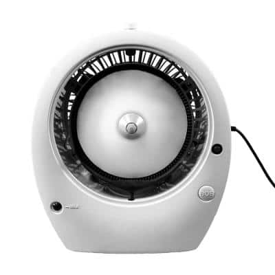 Bob 12 in. Tabletop Misting Fan in White, Cools Up to 400 sq. ft.