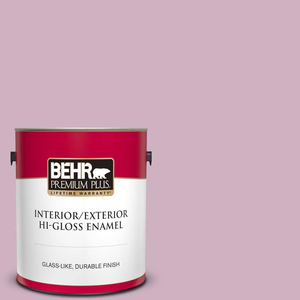 Behr Premium Plus 1 Gal S120 3 Candlelight Dinner Hi Gloss Enamel Interior Exterior Paint 840001 The Home Depot