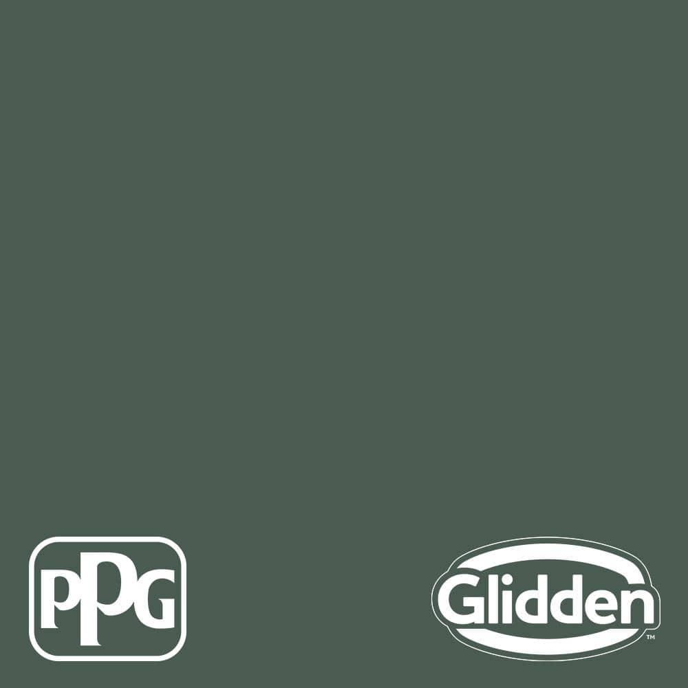Glidden Premium 1 Gal Ppg1136 7 Dark Green Velvet Semi Gloss Exterior Latex Paint Ppg1136 7px 1sg The Home Depot