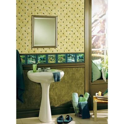 Pinecone Beige Wallpaper Sample
