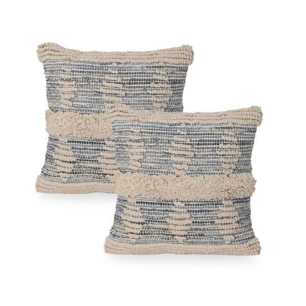 Denim Throw Pillow Set