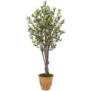 Indoor Olive Artificial Tree in Terracotta Planter