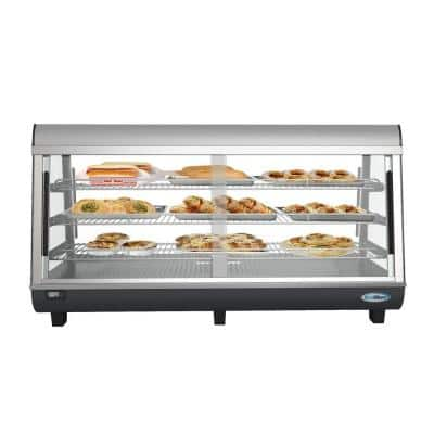 48 in 6.5 cu. Ft. 3 Shelf Countertop Self Service Commercial Food Warmer Display Case in Stainless Steel