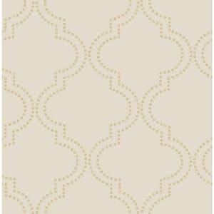 Yreka, Tetra Beige Quatrefoil Paper Strippable Wallpaper Roll (Covers 56.4 sq. ft.)