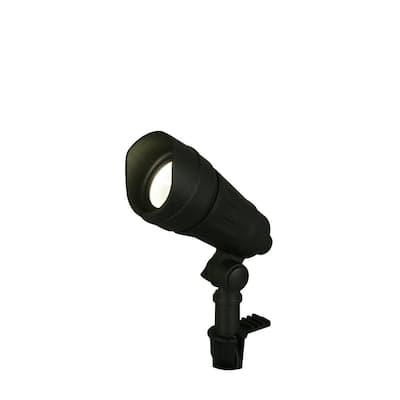 9.8-Watt Millennium Black Adjustable Light Color Outdoor Integrated LED Landscape Spot Light