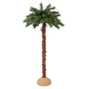 4 ft. Pre-Lit Artificial Palm Tree with 150 UL-Listed Lights