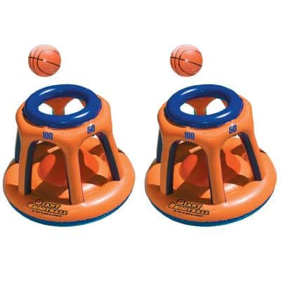Basketball Hoop Giant Shootball Inflatable Swimming Pool Toy (2-Pack)