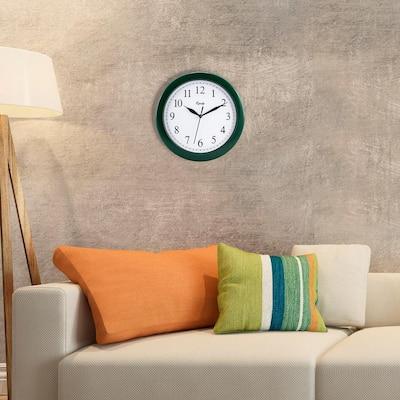 10 in. Hunter Green Quartz Wall Clock
