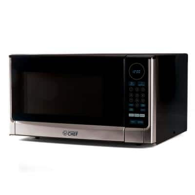 1.4 cu. ft. Countertop Microwave Stainless and Black