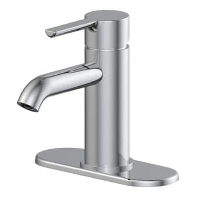 Metro Single Hole Single-Handle Bathroom Faucet with 50/50 Pop-Up in Chrome