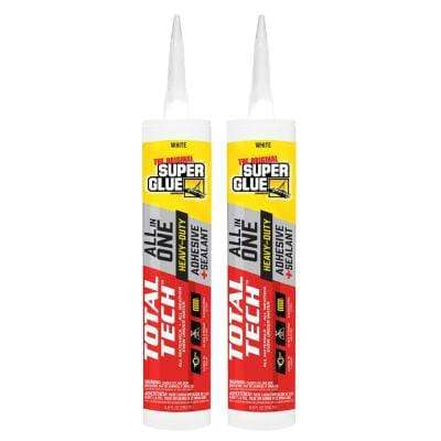 Total Tech (2) 0.98 oz. White All-in-One Adhesive and Sealant Cartridge (2-Pack)