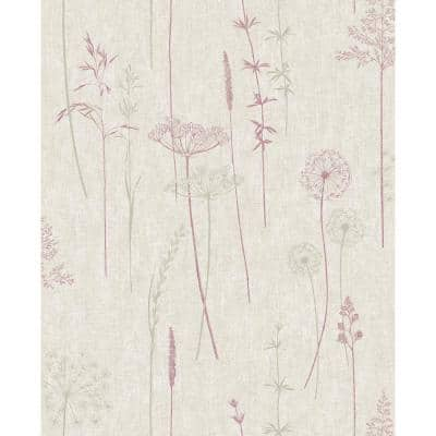 Meadow Charcoal/Rose Gold Wallpaper Sample