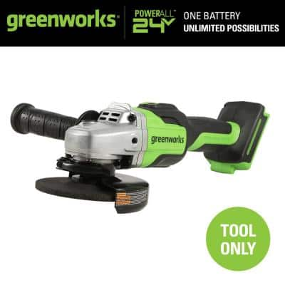 4-1/2 in. 24-Volt Battery Cordless Brushless Angle Grinder (Tool-Only)