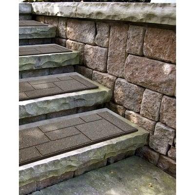 10 in. x 24 in. Earth Cobblestone Stair Tread