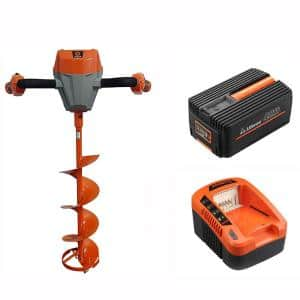 40-Volt Ice Auger Powerhead Kit - With Battery, Charger and 8 in. Ice Auger Blade