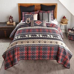 Canoe Trip 3-Piece Multicolor King Polyester Coverlet Set