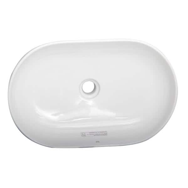Barclay Products Harmony 21 3 4 In Oval Vessel Sink In White 4 1096wh The Home Depot