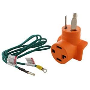 Dryer Adapter 3-Prong 30 Amp Dryer Plug to 4-Prong Dryer Female Connector Adapter