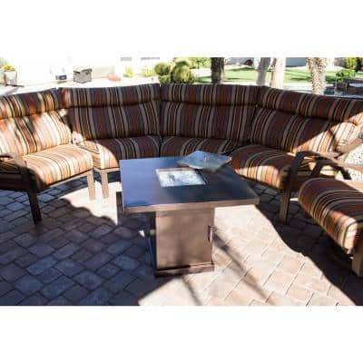 30 in. x 30 in. Propane Fire Pit in Hammered Bronze