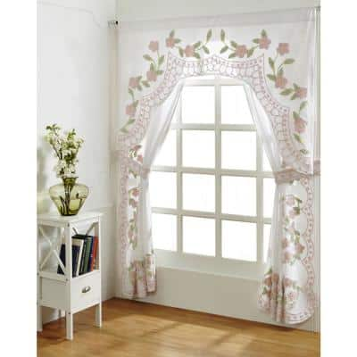 Bloomfield 84 in. x 84 in. Rose Curtain