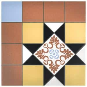 Derby Black 9-3/4 in. x 9-3/4 in. Porcelain Floor and Wall Tile (11.11 sq. ft. / case)
